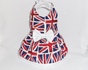 Dog dress union jack flag for small dog chihuahua
