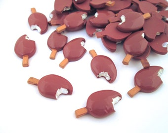 Chocolate Ice Cream Bar Popsicle Cabochons, Pick Your Amount, #093a