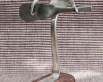 Silver Plated Silverware Guitar Man Statue SS004