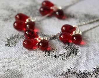 red earrings for wife gifts for women jewelry gifts for her valentine day gifts for girlfriend silver earrings gifts romantic gifts пя137