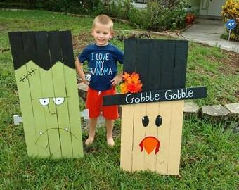 Reclaimed Pallet Gobble Gobble Thanksgiving Turkey