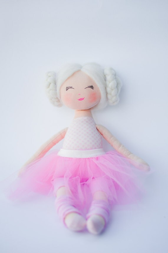 Rag doll ballerina doll doll dolls cloth doll handmade