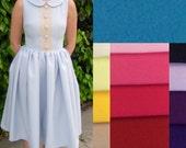 1950s dress / 50s dress / pinup dress / full skirted dress / fit and flare / blue dress / bridesmaid dress  / retro dress