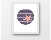 Blue Sea Starfish, Blue Starfish, Marine Art,Beach Decor Digital Download ,Printable Art,Photography,Printable Art,Download Art Prints,