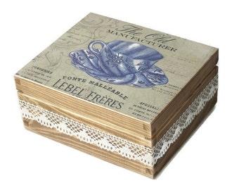 Tea Storage Box,Tea box,vintage tea box,rustic tea box
