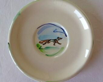 F Baldus Hand Painted Fox Plate
