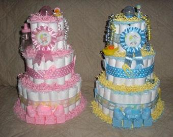 3 Tier Basic Diaper Cakes