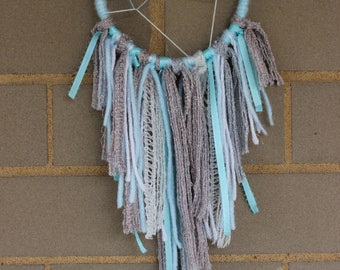 Handmade Dreamcatcher - Mini - Sky Blue, White, Gray - Urban Outfitters, Free People