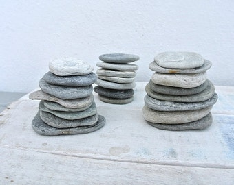 Stackable Flat Beach Stones, Flat Stones, Stones For Crafts, Craft Supplies, Beach Finds, Art Supplies