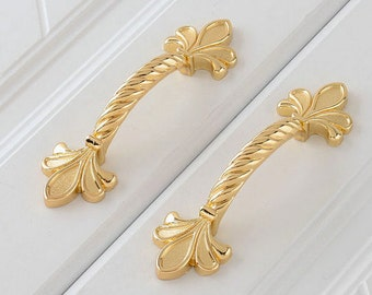 gold dresser knobs pulls drawer pull handles knobs gold fleur de lis kitchen cabinet door knob