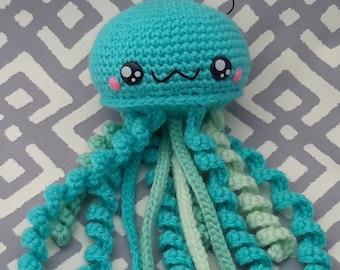 Crochet jellyfish ornament (Ready to ship)