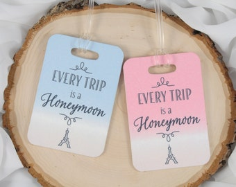 Wedding Gift - Honeymoon Luggage Tag - Married Anniversary Luggage Tag - Newly Wed Luggage Tag - Couple Trip Tag - Bridal Shower Gift
