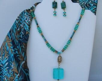 Aqua Necklace Set under 20