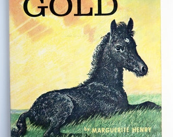 Children's Books, Black Gold, Books for Kid's, Books about Horses,1970's