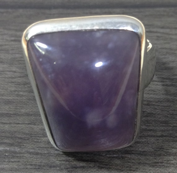 Ring Sterling Silver Light Amethyst Purple Ring Handmade Handcrafted Purple Amethyst Calming Serenity Stone Statement Unique