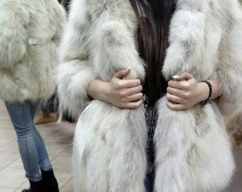 New!Natural,Real XS size Hooded Fur from Fox! Новая натуральная шуба из лиси!
