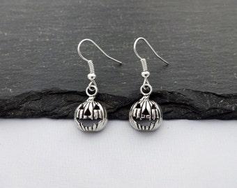Halloween Earrings, Pumpkin Earrings, Charm Earrings, Pumpkin Jewellery, Halloween Jewellery, Halloween Jewelry, Pumpkin Jewelry