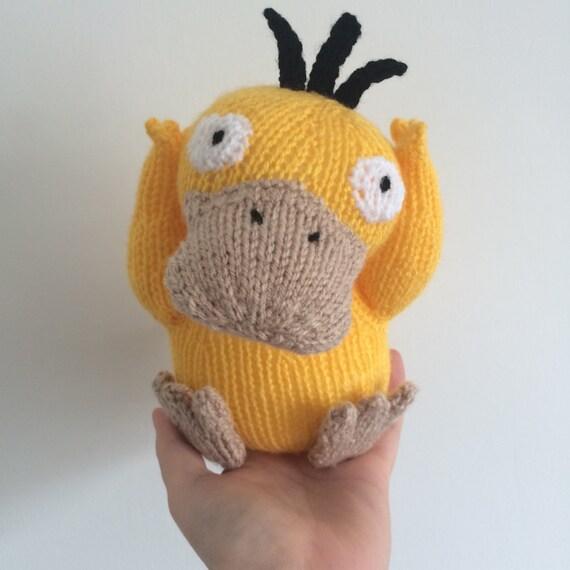 Psyduck pokemon knitting pattern soft toy pokemon amigurumi duck animal toy pattern plushie