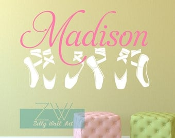 Wall Decal | Ballerina Wall Decal | Name Wall Decal | Kids Wall Decal |  Removable Part 98
