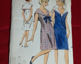 Butterick 3501 Sailor Dress Vintage Sewing Pattern- Mod Scooter in a 1 or 2 Piece Outfit- Uncut Bust 31 1/2