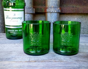 Tanqueray Green Upcycled Gin and Tonic Drinking Glasses
