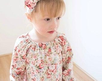 Girls dress sale. Baby girls dress clearance. Floral dress sale. Toddler  Vintage floral dress. Girls clothing sale. Reduced girls dress.
