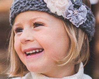 Kids Knitted Headband, Knit Headband, Kids Ear Warmer, Toddler Headband, Hair Accessory, Baby Girl Turban, Little Girl Band