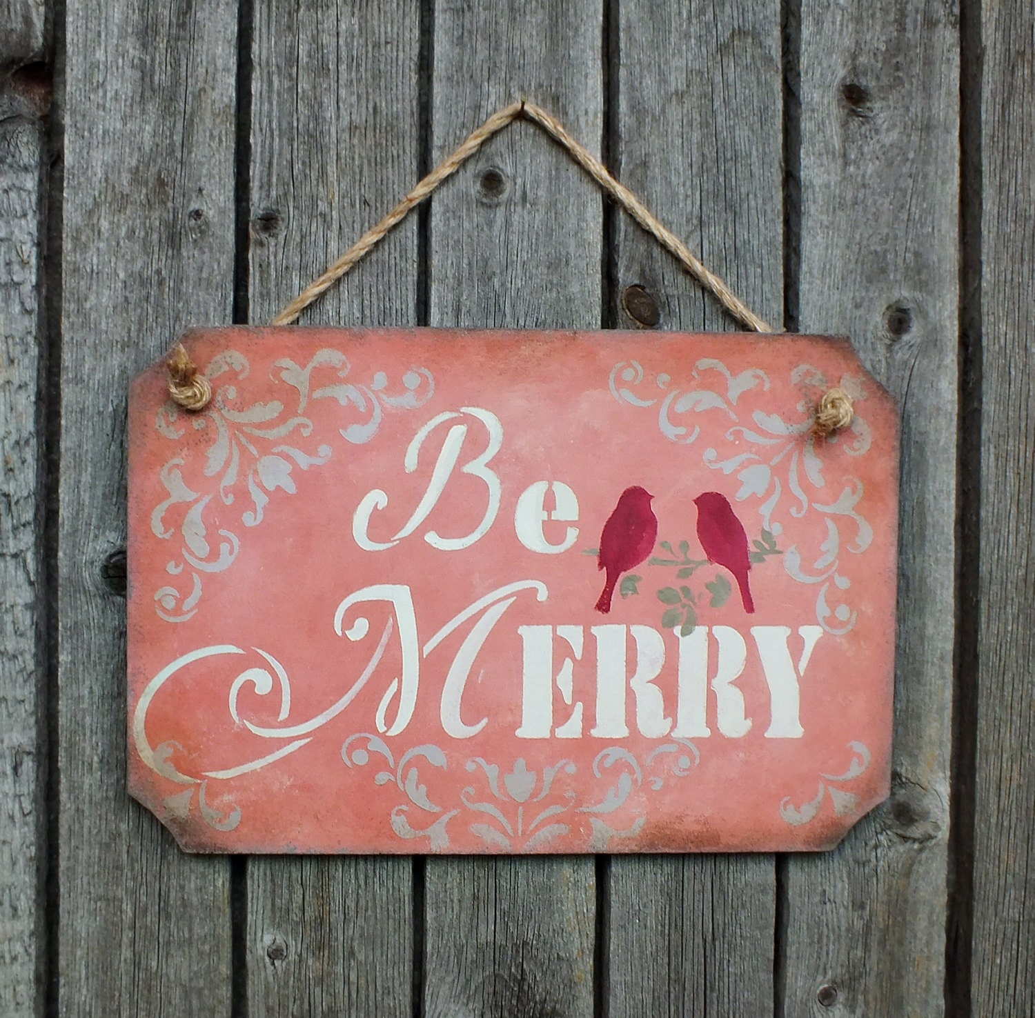 Christmas signs be merry sign wooden holiday