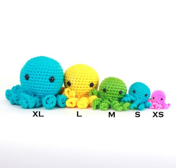 Octopus Amigurumi Plush : XL Amigurumi Octopus Plushie Stuffed Animal by alyssacritters