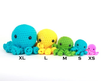 XL Amigurumi Octopus Plushie Stuffed Animal