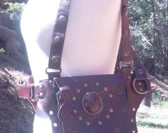 Crystal Holster Vest, Leather Utility Belt, Shoulder Holster, Leg Holster, Leather Holster Bag, Burner Vest, Holster Bag, Leather Hip Bag