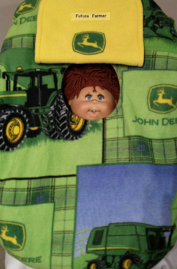 Car Seat Carrier Cover John Deere Baby Cozy Blue Yellow