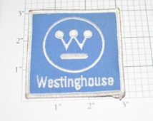 WESTINGHOUSE Electric Corporate Rare Vintage Iron-On Patch Blue Background e9a Viacom CBS Founded 1886 Free Shipping