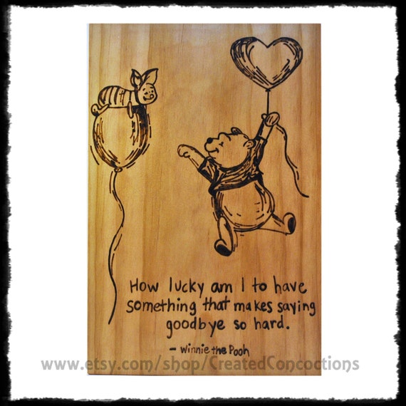 WINNIE The POOH And PIGLET How Lucky Am I To By