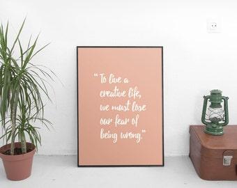 Creative Quote Print  | Digital Download