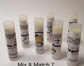 Lip Balm 7 Pack - Mix and Match Gift Set - Handcrafted with Organic Ingredients by The Crafty Lemon!!