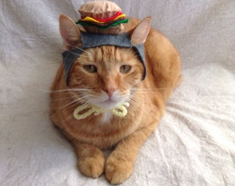 Cheeseburger Hat For Cats