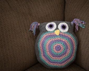 Crochet Owl Pillow, Owl Pillow, Owl Pillow Crochet, Owl Throw Pillow, Decorative Pillow, Bird Pillow, Owl Stuffed Animal, Crocheted Owl