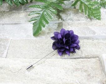 Purple lapel flower. Lapel flower. Lapel pin. Flower lapel. Man lapel pin. Brooch. Flower lapel pin. Mens flower lapel. Lapel pins men.