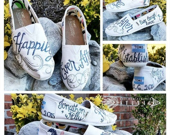 Custom Bridal Wedding Happily Ever After TOMS