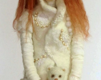 "Collectible doll ""Snow girl"""