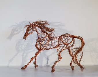 Welcome to my aerial joyful and delicate world by nirvenaart horse art birthday gift horse sculpture wire horse modern horse decor negle Image collections