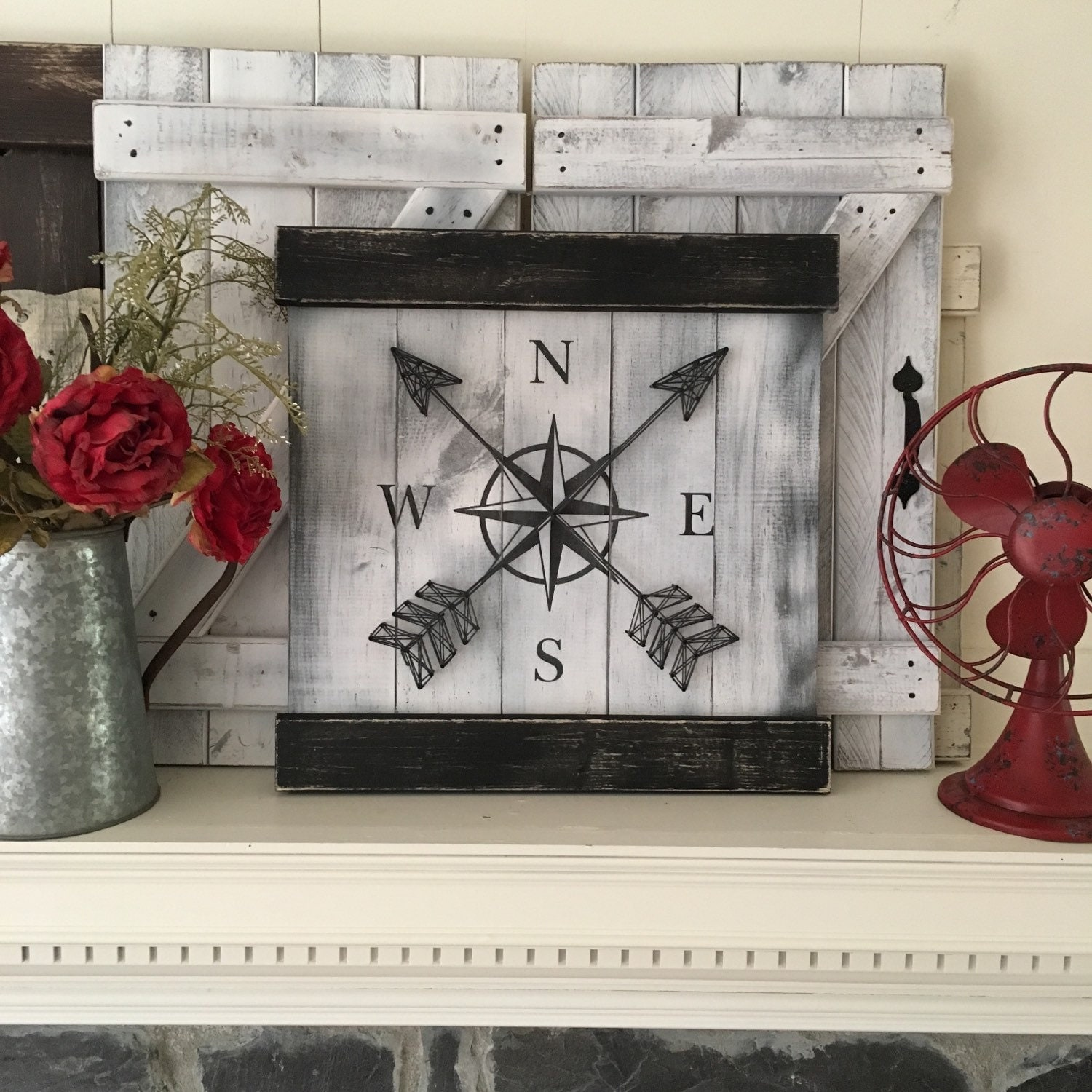 Nautical Wall Decor nautical wall decor compass decor rustic gallery wall