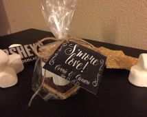 Personalized S'more Wedding Favor with Bag, Twine and Hanging Tag - Favor Gift Kit (Loving All The Details)