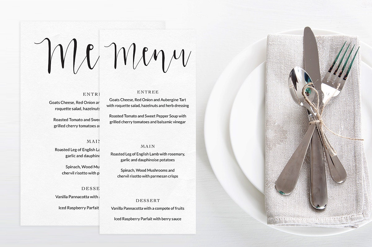Wedding menu printable, Black and white wedding, Printable wedding menu, Wedding reception decor, Wedding stationery, Modern wedding