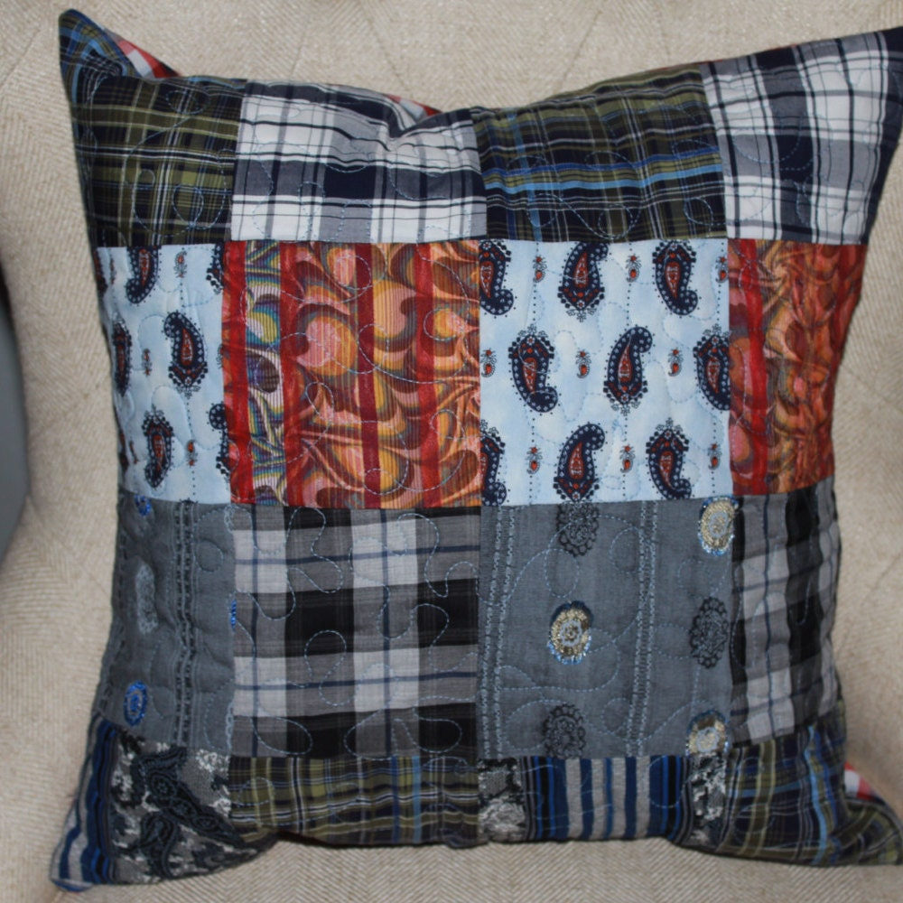 Memory quilt pillow Memory pillow Quilted memory pillow from