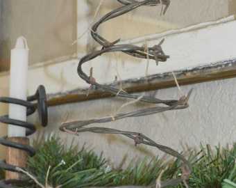 Barb Wire Christmas Tree