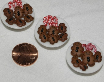 Miniature Dollhouse Food - Gingerbread Cookies and Candy Canes
