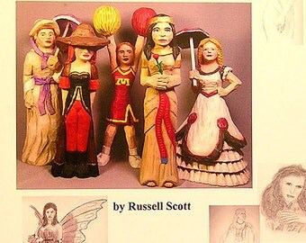 Carving Women Caricatures - Instructional Carving Book by Russell Scott