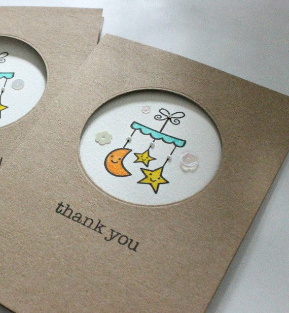 Baby Gift Thank You Card Packs : Pack of baby gift thank you cards shower